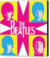 Beatles Vinil Cover Colors Project No.01 Canvas Print