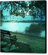 Beaufort South Carolina Surreal Ocean Inland Scene Canvas Print by Kathy Fornal