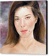 Beautiful Actress Jeananne Goossen Updated Version Canvas Print