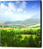 Beautiful Greens Landscape Canvas Print
