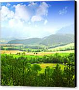 Beautiful Greens Landscape Canvas Print by Boon Mee