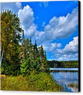Beautiful Lake Abanakee - Indian Lake New York Canvas Print by David Patterson