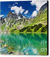 Beautiful Mointain And Lake Canvas Print