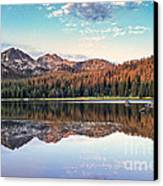 Beautiful Mountain Reflection Canvas Print by Robert Bales