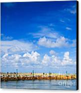 Beautiful Sea Sky Canvas Print by Boon Mee