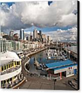 Beautiful Seattle Sky Canvas Print by Mike Reid
