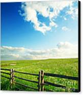 Beautiful Sky On Greens Landscape Canvas Print by Boon Mee