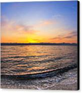 Beautiful Sunrise On A Red Sea Beach Canvas Print