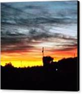 Beautiful Sunset In East Tn Canvas Print by Regina McLeroy