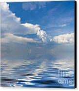 beauty Clouds over Sea Canvas Print by Boon Mee