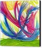 Beauty Gives Joy Canvas Print by Kelly K H B