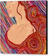 Beauty Of Hair Abstract Canvas Print by Kenal Louis