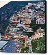 Beauty Of The Amalfi Coast  Canvas Print by Leslie Leda