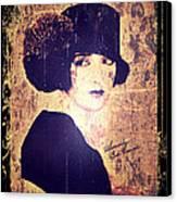Bebe Daniels - 1920s Actress Canvas Print by Absinthe Art By Michelle LeAnn Scott
