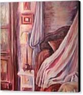 Bedside Lamp Canvas Print by Ellen Howell