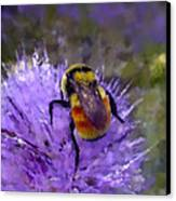 Bee Flower Canvas Print