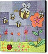 Beeing Happy Canvas Print by Julie Bull