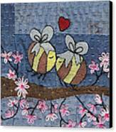 Beeing In Love Canvas Print by Julie Bull