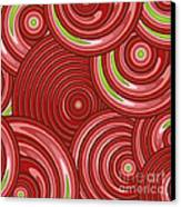 Beetroot Pink Abstract Canvas Print