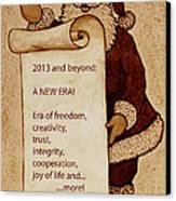 Begining Of A New Era Canvas Print by Georgeta  Blanaru