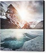 Beginning To Thaw Canvas Print by Kym Clarke