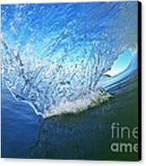 Behind The Blue Curtain Canvas Print