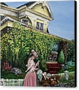 Behind The Garden Gate Canvas Print by Linda Simon