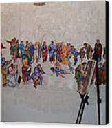 Behind The Scenes Mural 7 Canvas Print by Becky Kim