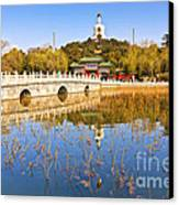 Beijing Beihai Park And The White Pagoda Canvas Print by Colin and Linda McKie