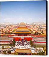 Beijing Forbidden City Skyline Canvas Print by Colin and Linda McKie