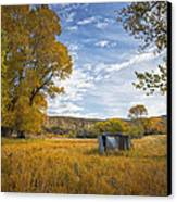 Belfry Fall Landscape Canvas Print by Roger Snyder