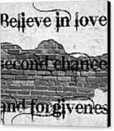 Believe Canvas Print by Lorraine Heath