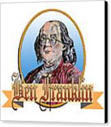 Ben Franklin Canvas Print by John Keaton