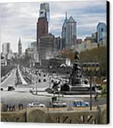 Ben Franklin Parkway Canvas Print