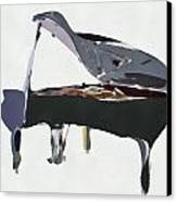 Bendy Piano Canvas Print by David Ridley