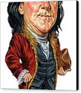 Benjamin Franklin Canvas Print by Art