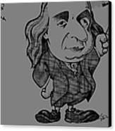 Benjamin Franklin, Caricature Canvas Print