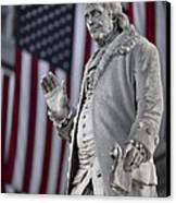 Benjamin Franklin Canvas Print by Eduard Moldoveanu