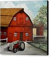 Bens Barn Canvas Print by Kendra Sorum