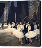 Beraud, Jean 1849-1935. Backstage Canvas Print