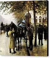 Beraud, Jean 1849-1935. The Boulevards Canvas Print by Everett