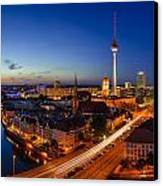 Berlin Skyline Panorama Canvas Print by Jean Claude Castor