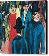 Berlin Street Scene Canvas Print by Ernst Ludwig Kirchner