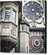Berne Famous Clock Canvas Print by Mesha Zelkovich