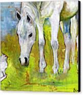 Best Friends Art Canvas Print by Blenda Studio