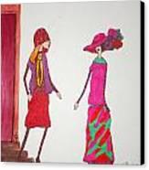 Best Friends Canvas Print by Mary Kay De Jesus