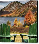 Best Seats In Acadia Canvas Print by George Oze