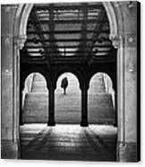 Bethesda Underpass At Central Park In New York City Canvas Print by Ilker Goksen