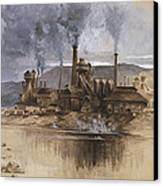 Bethlehem Steel Corporation Circa 1881 Canvas Print by Aged Pixel