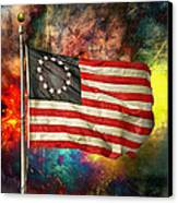 Betsy Ross Flag Canvas Print by Steven Michael